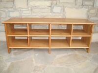 PINE STORAGE / TV UNIT IN VERY GOOD CONDITION 47INCH LONG 18INCH HIGH 14INCH DEEP ONLY £20