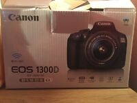 Canon DSLR 1300D WITH 32 gb sd card and tripod
