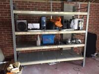 Garage storage heavy duty racking shelving.
