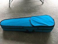 1/2 size violin. Blue in colour.