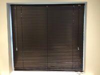 Brand new dark grey metal Venetian blinds