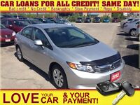 2012 Honda Civic LX * LOW KMS * SHOWROOM CONDITION
