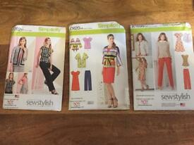 Sets of 3/4 Sewing Patterns
