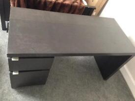 Black IKEA desk ono £30