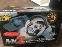 PS2 racing wheels and pedal for sale can deliver BOXED