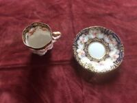 Antique coffee cup and saucer