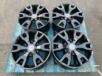 "18"" Ford Ranger Wildtrak Alloys Gloss Black Refurbished Wheels Off Road Swamper"