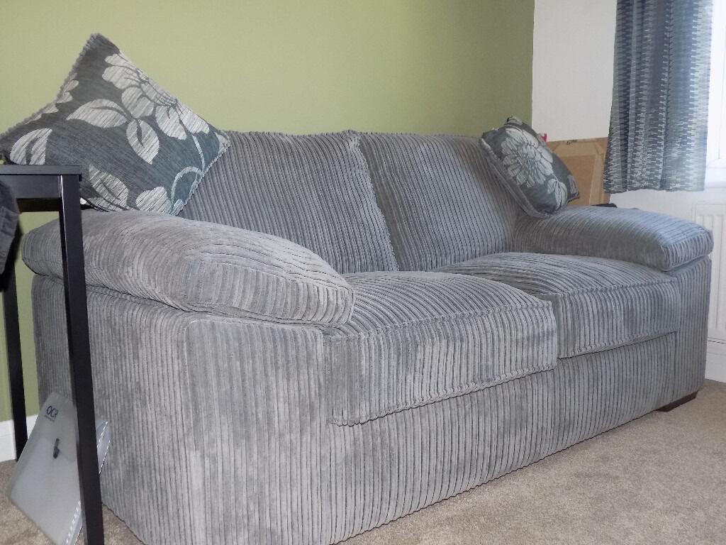 Grey Corduroy Sofa Bed In Basildon Essex Gumtree