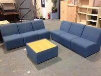 6 reception sofas