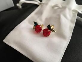 Genuine Swarovski beauty and the beast earrings