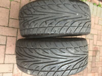 **2 X WANLI S-1088 245/40ZR18 TYRES, 7MM TREAD, EXCELLENT CONDITION**