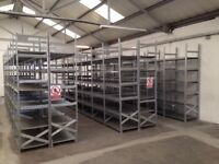 100 bays Galvenised SUPERSHELF industrial shelving ( pallet racking /storage)