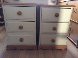 Pair of pine bedside tables