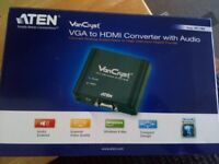 Vancryst vga to hdmi converter with audio