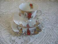 Vintage Trios Ideal For afternoon Teas, Vintage Weddings etc