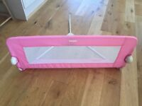 Tomy pink folding safety bed guard as new