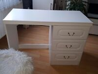 Computer desk, dressing table white 33 Drawers solid