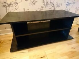 Black TV unit table already assembled