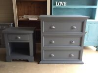 Bedroom Set /Chest of Drawers/Bedside Table
