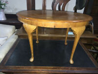 Lovely Little Vintage Walnut Veneer Oval Coffee Table