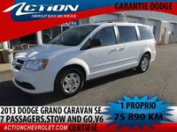 2013 Dodge Grand Caravan 7 PASSAGERS,STOW AND GO,1 PROPRIO