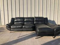 Black corner sofa/couch/suite CAN DELIVER