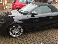 Black Audi TT convertible tfsi 200bhp