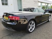 2010 AUDI A5 S LINE TDI CONVERTIBLE STUNNING EXAMPLE WITH RARE RED ROOF