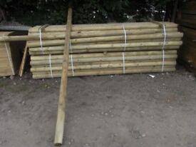 Timber jump pole 150mmx3m
