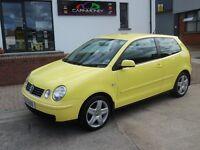 LOOK!! 2004 VW POLO IN SUNFLOWER YELLOW 68K LONG MOT £1595