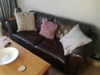 Leather 3 Seater Large Sofa