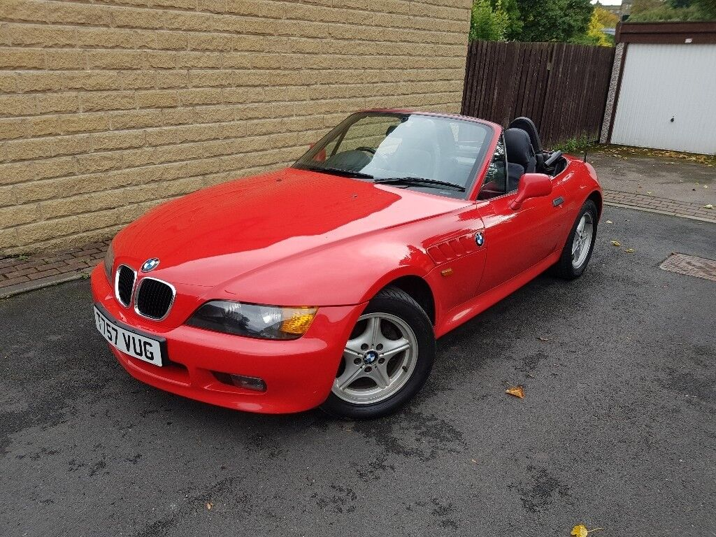 1999 Bmw Z3 Sports Convertible Red 1 9 Manual Leather