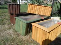 garden planters from £4/trellis £4 and cane £1
