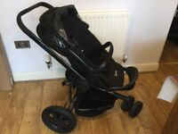 Quinny Buzz 3 Special Edition Black Pushchair with extras