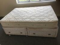 Double divan bed, sofas,