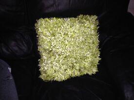 4 lime green cushions