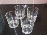 Set of 4 small Straight cut glasses