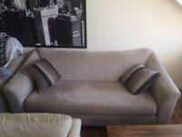 3 Seater compact sofa for sale - DFS Capsule Range - Mink/Baige Colour