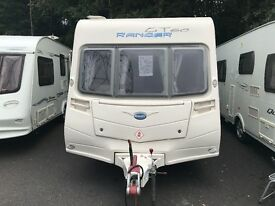 Bailey ranger light weight 4 berth fixed bed touring caravan