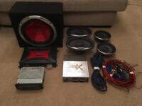 Sony car sound system inc pioneer speakers