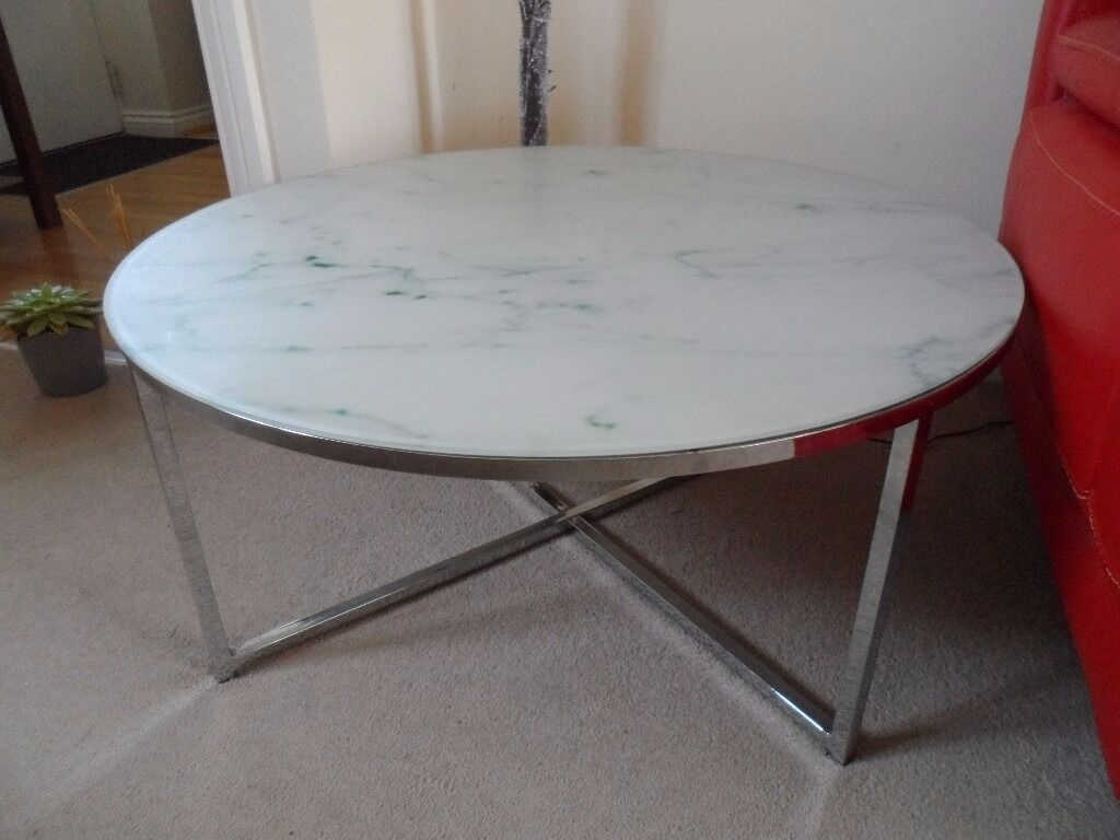Next novaro marble effect glass coffee table  in Mold, Flintshire  Gumtree