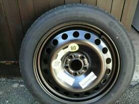 Space SAVER Wheel 5 stud with Continental tyre
