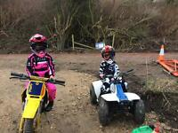 2 x kids bike/quad
