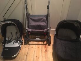 Uppababy Cruz travel system carrycot and pram - very good condition