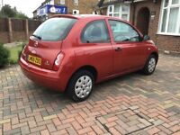 Nissan micra Automatic Fsh Low Miles 2005 red 3 Doors