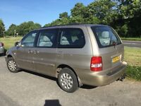 HEY UP, LOOK-55 KIA SEDONA 2-9 DIESEL LWB 7 SEATER,JUST COME IN PART EX SO CHEAP TO CLEAR £595 ASAP