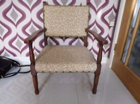 chair childs/low chair oak frame antique