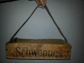 Vintage Schweppes crate