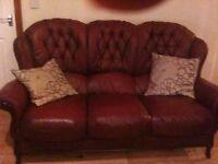 Three piece Italian Leather Suite