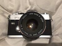 Canon FT QL 35mm film camera fd 50mm 1.8 ae 1 a 1 Minolta Nikon zenit yashica olympus pentax slr